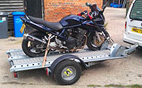 motor cycle trailer hire